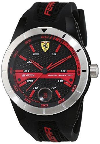 Scuderia Ferrari Orologi Herren-Armbanduhr Red Rev T Analog Quarz Silikon 0830253