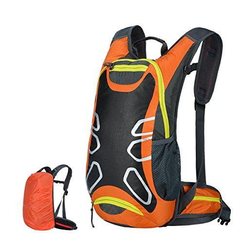 CHENGYUXUAN Zaino Impermeabile Traspirante Borsa Da Viaggio Alpinismo Sport Avventura Passeggiate All'aperto Zaino 15L,Red Orange