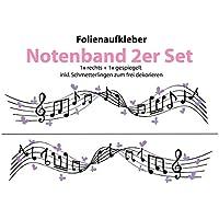 Auto Aufkleber/Sticker ***Notenband mit Schmetterlingen DESIGN 02 *** - (Größen und Farbauswahl)