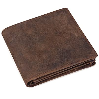 Jack&Chris®Men's High Quality Genuine Leather Wallet Purse(Gift Box),NM8056R*1