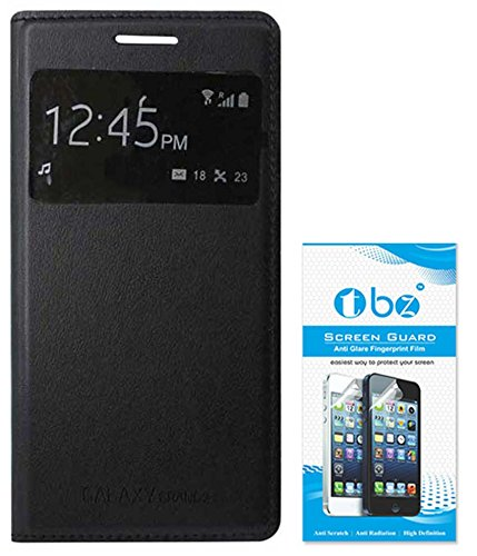 TBZ S-View Flip Cover Case for Samsung Galaxy Grand 2 with Screen Guard -Black  available at amazon for Rs.379