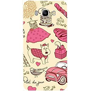 Casotec Paris Pattern Design Hard Back Case cover for Samsung Galaxy J5 (2016)