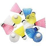 Hysagtek 12Kunststoff-Badmintonbälle, Federbälle, Indoor/Outdoor, Sport Training, Gartenspiel, zufällige Farbe