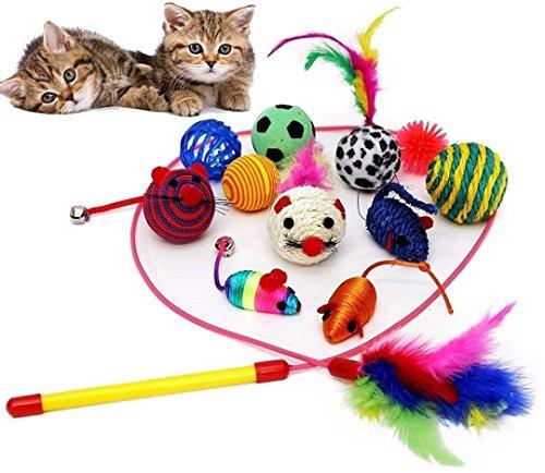 BLACK LION 20 Katzenspielzeug inklusive Katzenangel, Spielzeug für Katzen - 3