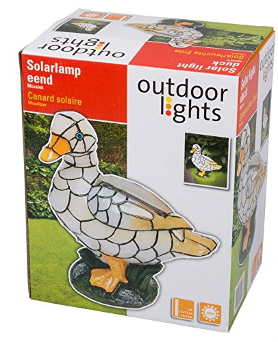 Mosaic Duck Solar Light Outdoor Garden Decorative Ornament