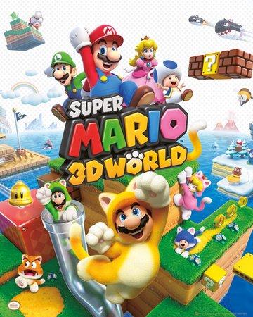 Nintendo Super Mario - 3D World Poster Plakat Bild (Super Mario Space)