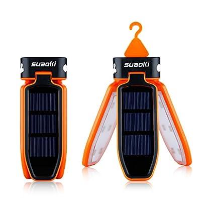 SUAOKI Faltbar Solar Camping Laterne 18 LED