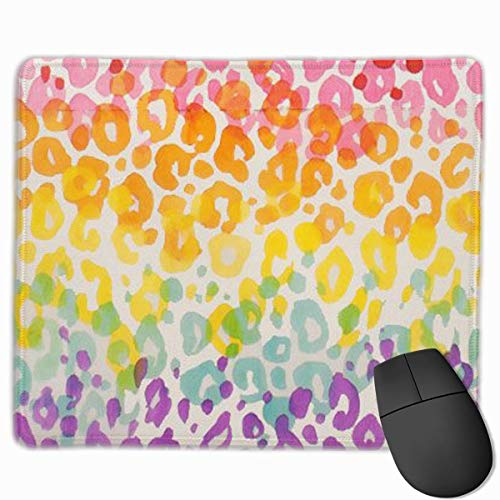 Colorful Cheetah Leopard Personalized Design Mauspad Gaming Mauspad with Stitched Edges Mousepads, Non-Slip Rubber Base, 300 x 250 x 3 mm Thick - Best Gift Idea