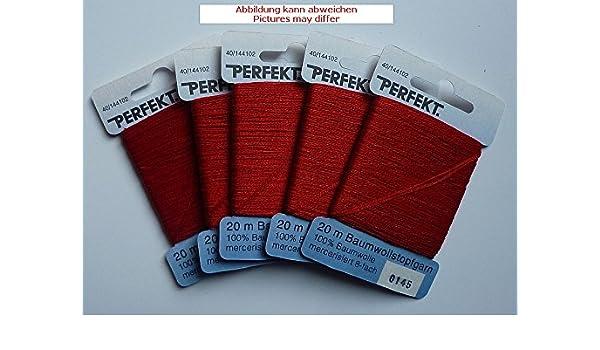 Perfekt 3 x 20 m Stopfgarn pink rot 100/% Baumwolle 8-Fach blau