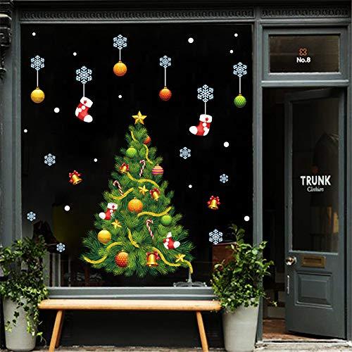 (Hukz Wall Sticker, 2019 Frohe Weihnachten Haushalt Zimmer Wandaufkleber Schaufenster Geschäft Fenster Abziehbilder Wandbild Aufkleber Abnehmbar Dekoration (Farbe))