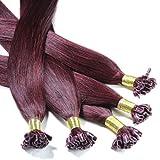 Just Beautiful Hair and Cosmetics Lot de 100 extensions en cheveux naturels Remy Hair avec points en kératine pour pose à chaud 60cm