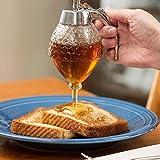SODIAL 200 ML Honig Dispenser Glas Container Tasse Saft Sirup