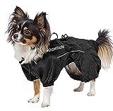 Morezi Outdoor Nylon Cucciolo Impermeabile Riflettente Four-Leg Raincoat Doggie Rain Gear Tuta per i Piccoli Extral Piccolo Cane Cuccioli