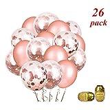 Minleer Partyballon (200 Stücke), Hochzeit Luftballons Luftballons für Party Zur Dekoration Geburtstagsfeier Dekoration 10 inch Ballons (Rose Gold Ballon)