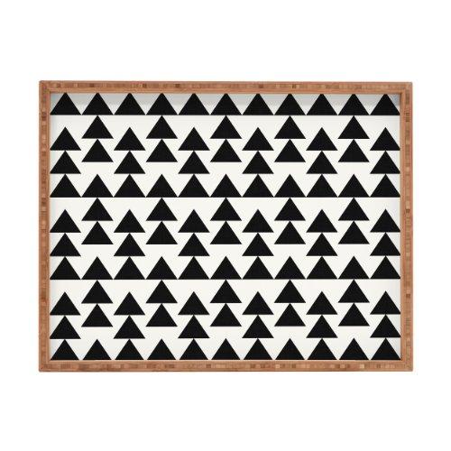 DENY Designs Holli ZOLLINGER-Dreiecke schwarz Tablett, rechteckig, 14x 18