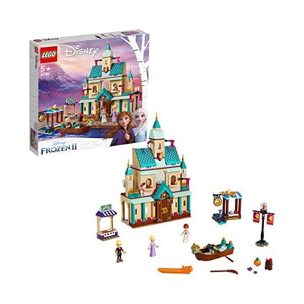 LEGO DisneyFrozenII IlvillaggiodelCastellodiArendelle con Mini-doll della Principessa Anna, Elsa e Kristoff,Mercato e Barca a Remi,Gatto e 2 Uccelli,Set di Costruzioni per Bambini, 41167 2 spesavip