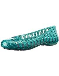 crocs Girl's Adrina II Glitter Ballet Flats