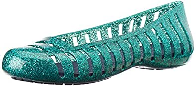 Crocs Women's Tropical Teal and Nautical Navy Ballet Flats - J1