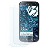 Bruni Schutzfolie für Samsung Galaxy S4 Mini Folie - 2 x glasklare Displayschutzfolie