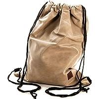 4df229a173 Gymbag Hipster Borsa sportiva sacchetto Turn Bag Stringbag Acciaio  Exclusiv, crema