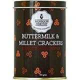 Monsoon Harvest Buttermilk and Millet Crisp Baked Crackers, Cracked Black Pepper, 100g