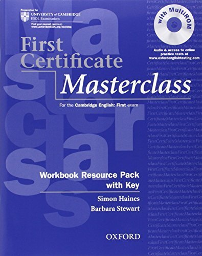 First Certificate Masterclass: Workbook Resource Pack with Key Csm Pap/CD edition by Haines, Simon, Stewart, Barbara (2008) Paperback