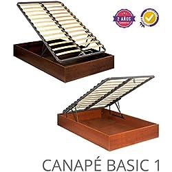 CANAPE ABATIBLE MADERA BASIC 1 90X180 Cerezo