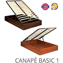 CANAPE ABATIBLE MADERA BASIC 1 135X180 Cerezo