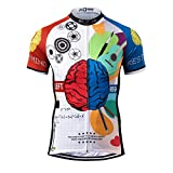 Thriller Rider Sports® Hombre Rest Your Mind Thriller Rider Sports® Hombre Deportes y Aire Libre Maillot Manga Corta de Ciclismo Large