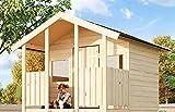 Gartenwelt Riegelsberger Spielhaus Tobi 1 ohne Stelzen & Treppe inkl. Dachpappe V13, Toby B187 x...