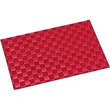 Kesper 77691Set de mesa de poliuretano/algodón rojo 43x 30,5x 0,1cm)