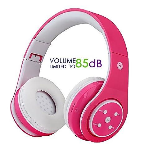 Kids Wireless Bluetooth Headphone with Microphone volume limited foldable Earphone