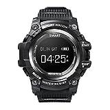 Fulltime®T1 Smart Watch Sportuhr,0,96-Zoll-OLED-Bildschirm,5 ATM (Schwarz)