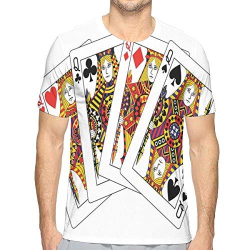s, Queens Poker Set stellt Herzen und Spaten gegenüber, die Thema-Symbol-Spielkarten Spielen ()