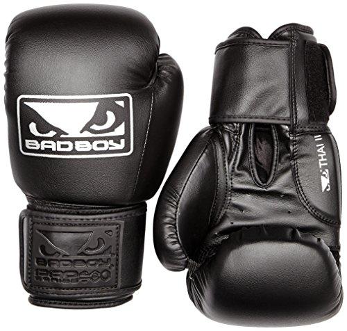 Bad Boy Herren-Boxhandschuhe Thai II, 14 oz, Schwarz