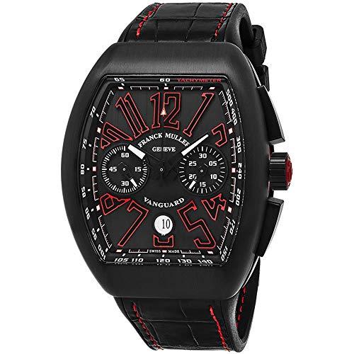 Franck Muller Vanguard Herren-Armbanduhr Armband Leder Automatik 45CCBLKBLKRED