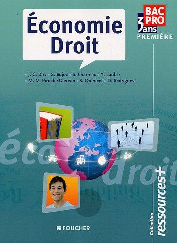 Economie Droit 1re Bac Pro Ressources+