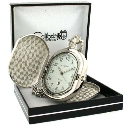 Colibri Pocket Watch Hunting Koffer mit Kette Model # PWQ092008C