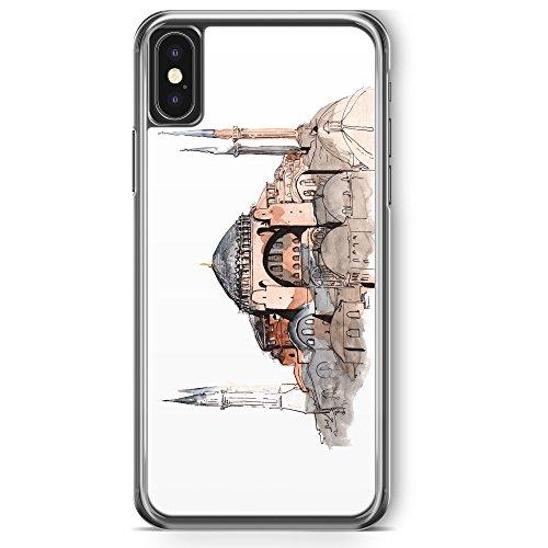 iPhone X Hülle - Hagia Sophia Ayasofya Istanbul Türkei - Motiv Design Türkiye Cami Islam - transparente durchsichtige Handyhülle Hardcase Schutzhülle Cover Case Schale Hardcover (Sophia Cami)