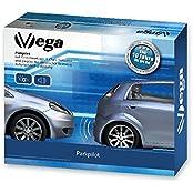 VSG 22128, VSG Premium Einparkhilfe mit Farb-Display und eingebauten Pieper inklusiv 4 Sensoren in weiß für vorne