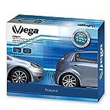 VSG® Einparkhilfe Kombi-Set für vorne&hinten mit Farb-Display und eingebauten Pieper in silber