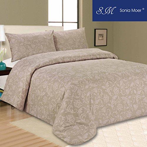 Sonia Moer Bettwäscheset, Brauntöne, braun, Einzelbett (Bettbezug King 600)