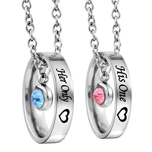 *Halskette Ring Anhänger Edelstahl Partnerketten mit Gravur*