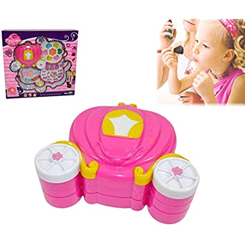 Estuche de maquillaje con forma de CARROZA para niñas - Juguete infantil de imitación mws2022