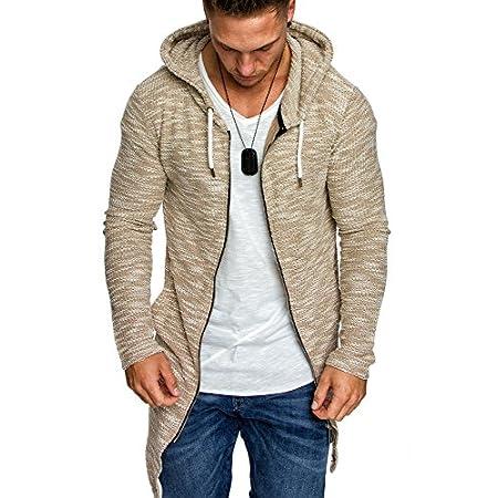 Amaci&Sons Herren Kapuzenpullover Zipper Sweatshirt Hoodie Sweatjacke Pullover 4016