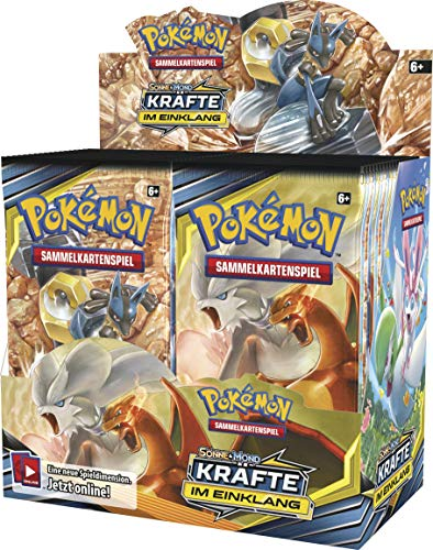 Pokemon SM10 Kräfte im Einklang Display mit 36 Boosterpacks