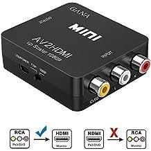 RCA a HDMI, GANA AV a HDMI Convertidor de Video Soporte 1080P con Cable de Alimentación USB para PC/Laptop / Xbox / PS4 / PS3 / TV/STB / VHS/VCR Cámara DVD - Oro