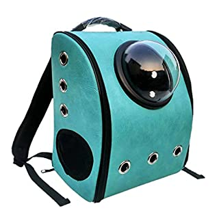 Nunubee Backpack Pet Carriers for Cats and Small Dogs Good for Traveler Outdoor Activties, Turquoise, L--35X26X44 CM