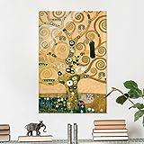 Bilderwelten Cuadro de cristal - Gustav Klimt - El Árbol de la Vida - Art Nouveau Alto 3:2, mural acristalado mural de pared decoración para pared decoración cristal impresión en cristal mural de pared de cristal fotomural de cristal, Tamaño: 60cm x 40cm