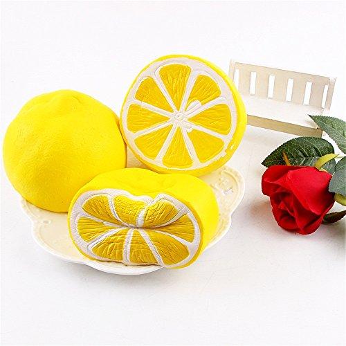 EARS Toy Store - 6 cm Squishy Scented Slow Rising Fun Entlasten Stress Heilung Zitrone (Kostüm Baby Mädchen 1 Sache)